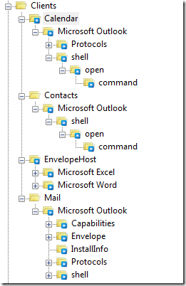 open application excel outlook