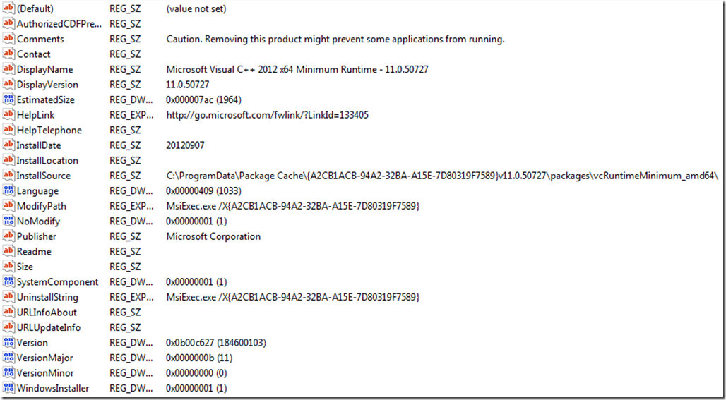 Extract MSI from Visual C++ 2012 Redistributable – The knack