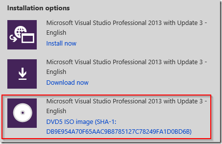 Visual Studio 2013 silent install – The knack